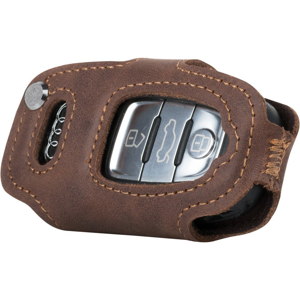 Car key case (remote control) for the car - Nubuk Nut Brown