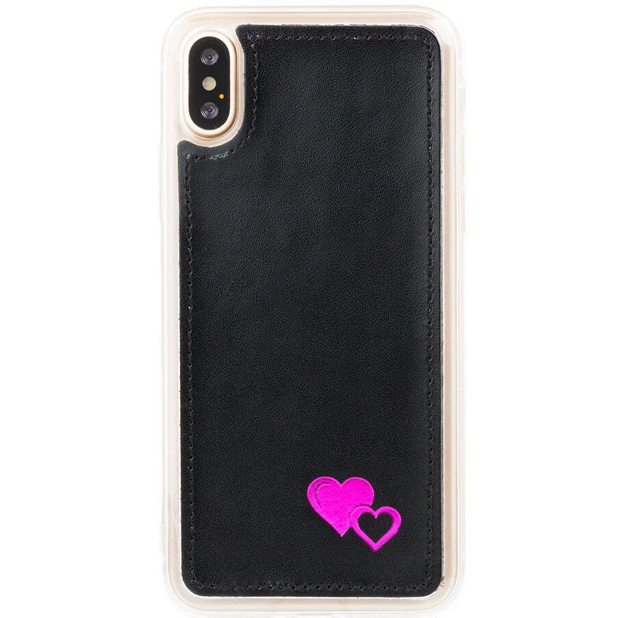 Back case - Costa Black - Pink Hearts