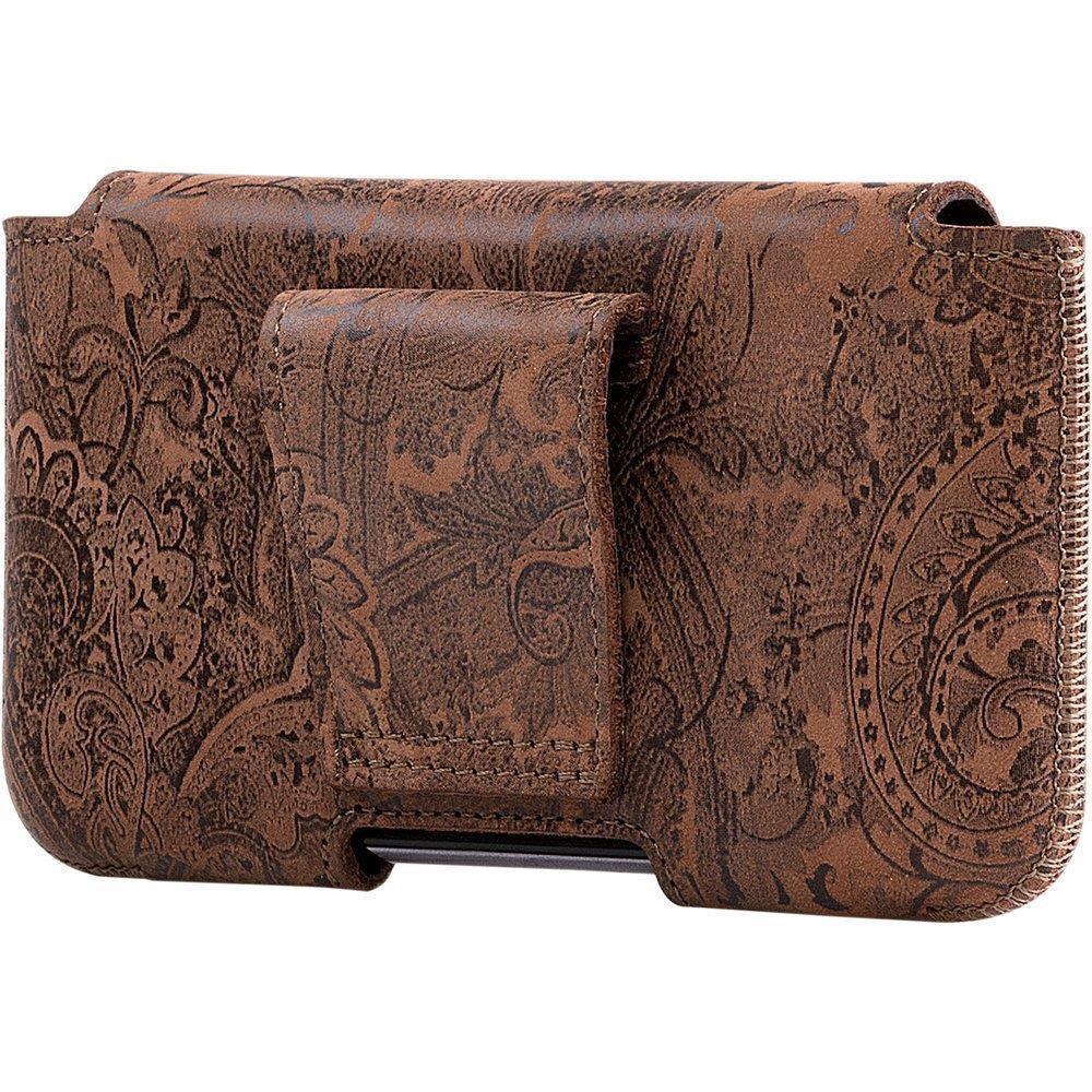 Belt case - Nubuck Nut brown