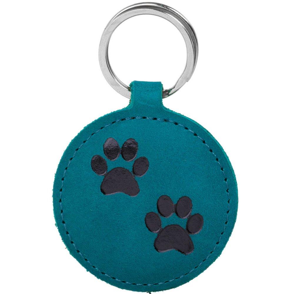 Keychain - Nubuck Turquoise - Two Paws Black