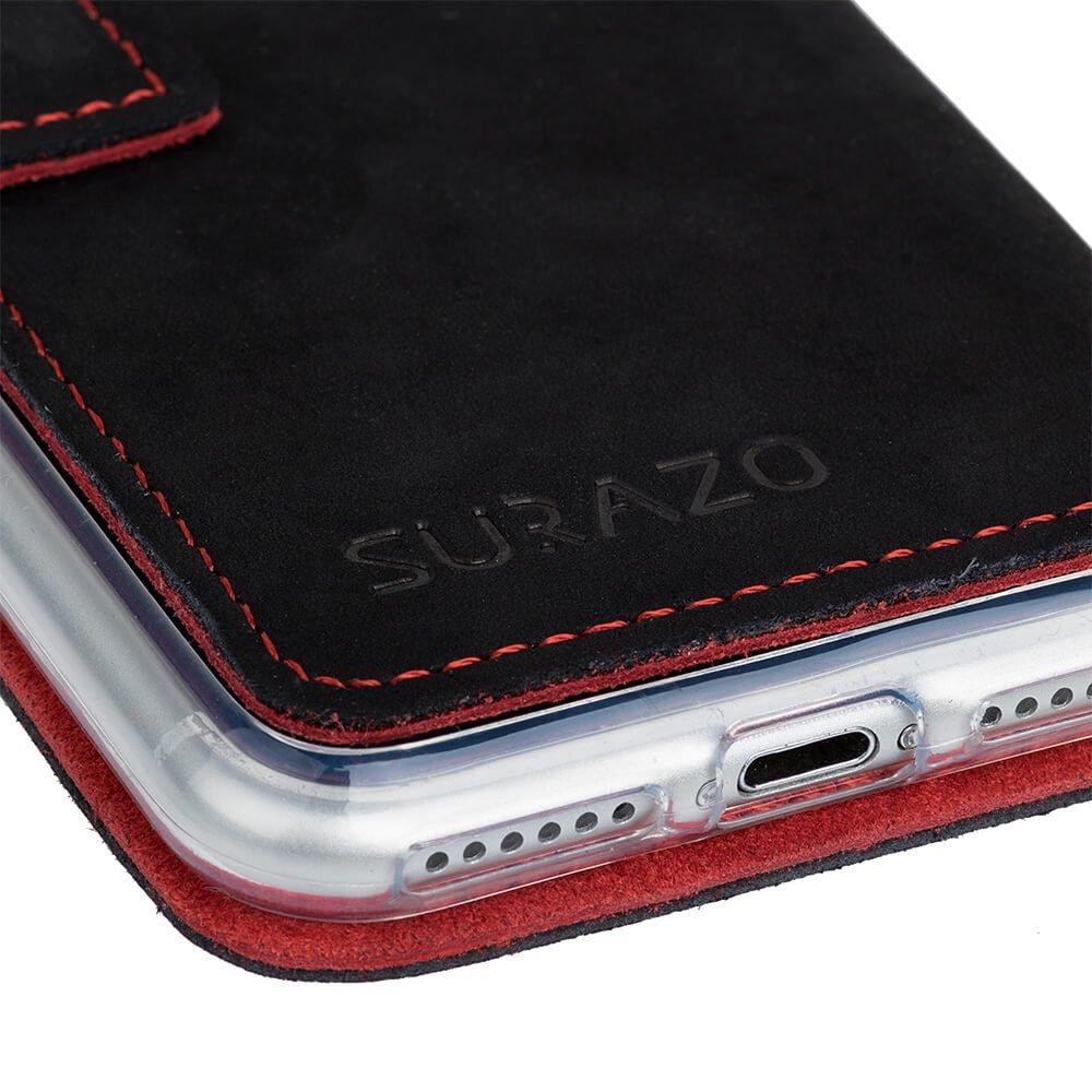 Slim cover - Nubuck Black - Red Paw
