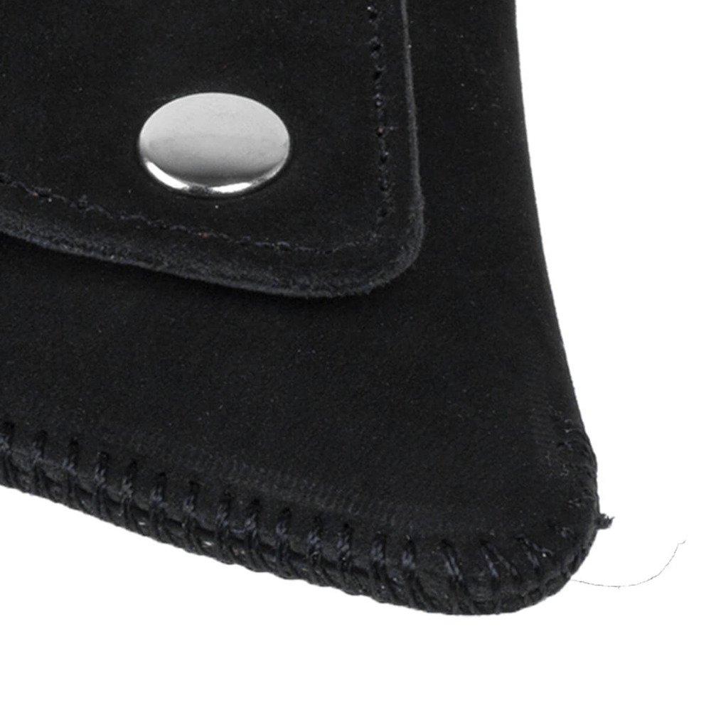 Traingle Coin Pouch - Nubuck Black