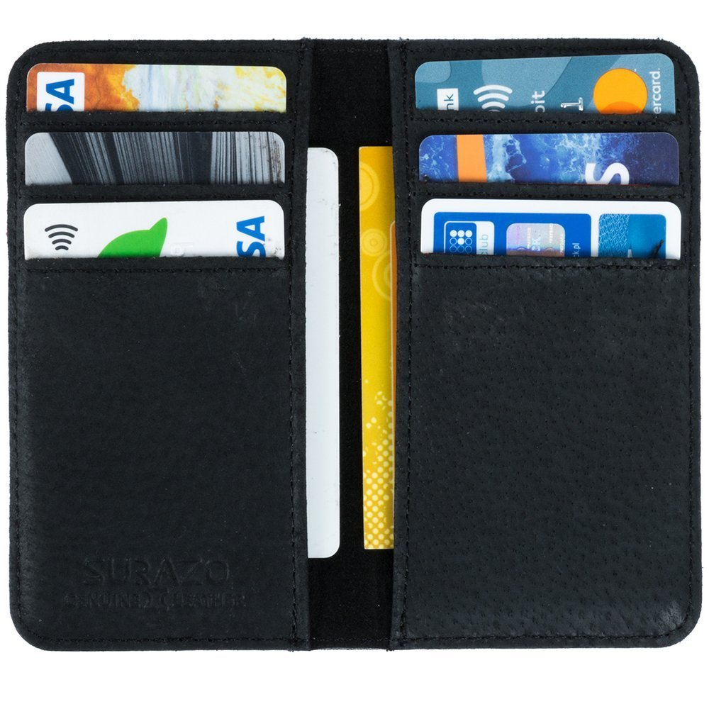 Vertical case for cards, documents and business cards - Cayme Red