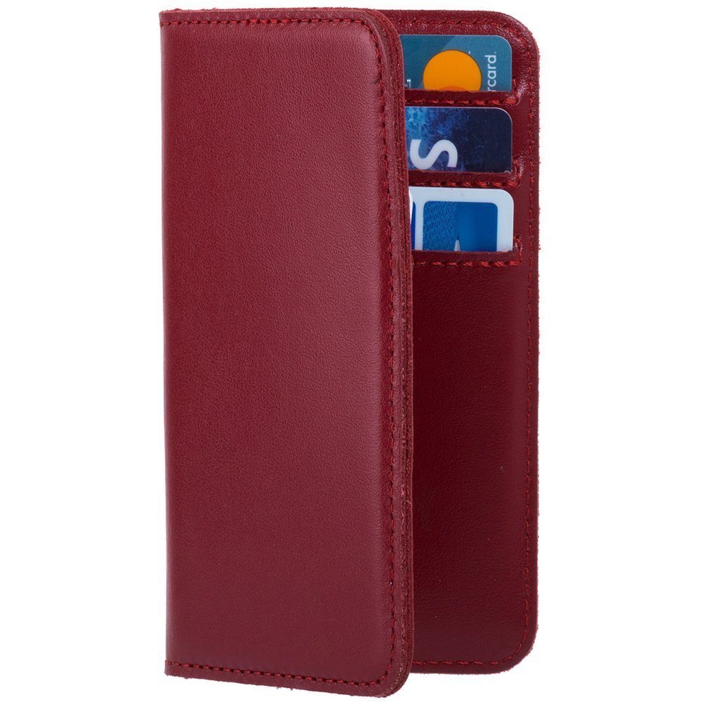 Vertical case for cards, documents and business cards - Costa Red