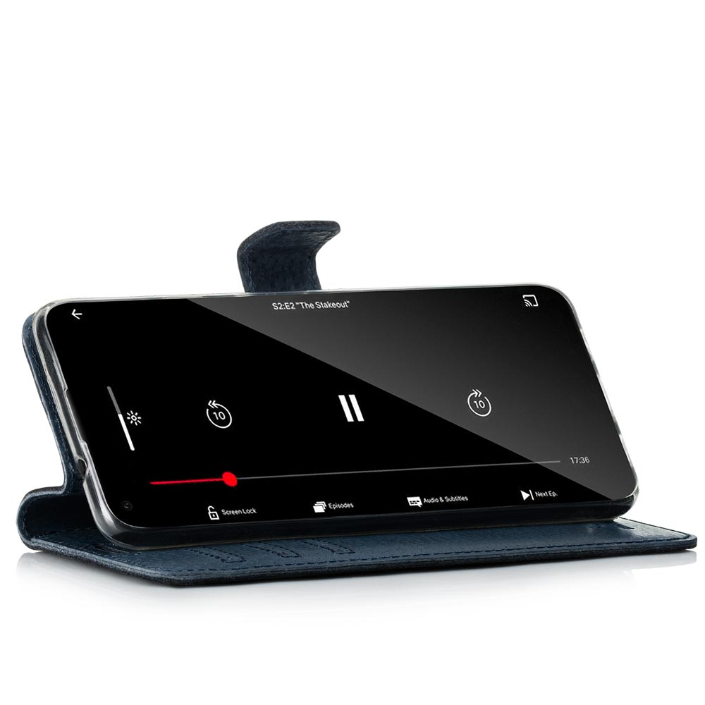 Wallet case - Nubuck Navy Blue and Gray