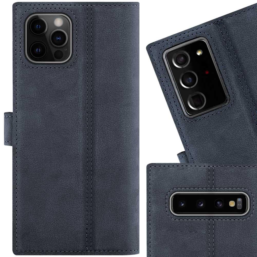 Wallet case - Nubuck Navy blue