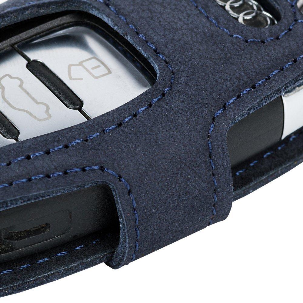 Autoschlüsseletui (Fernbedienung) für das Auto - Nubuk Blau