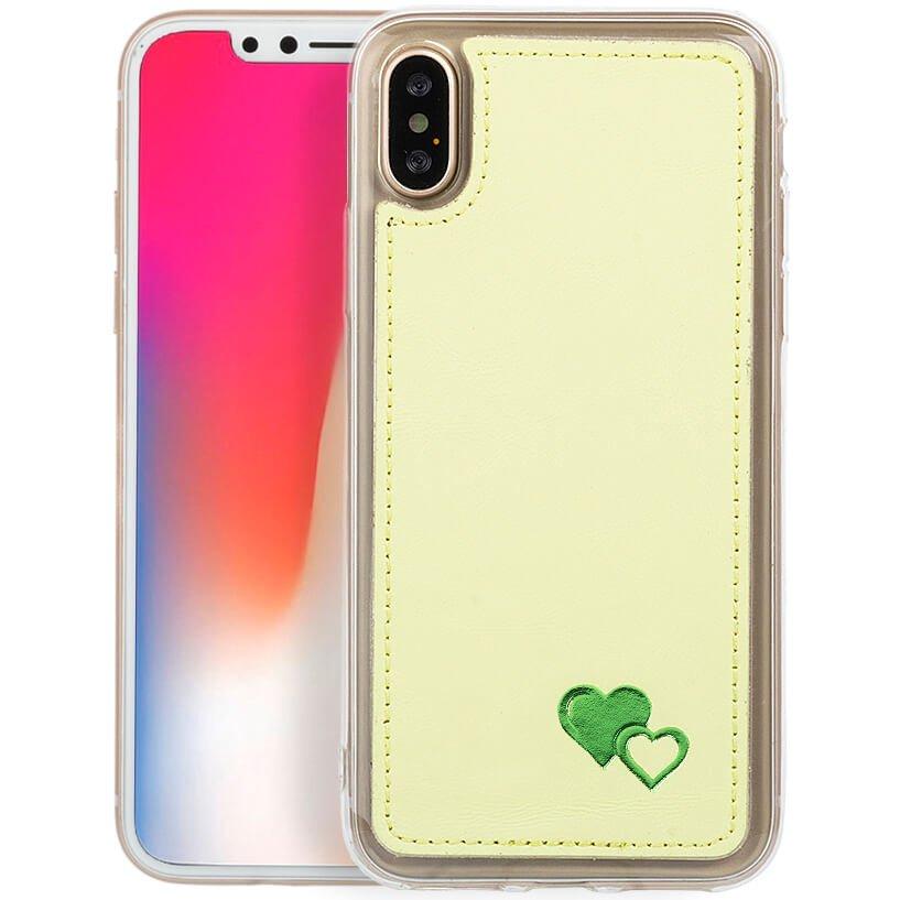 Back case - Pastel Cytrynowy - Zielone Serca