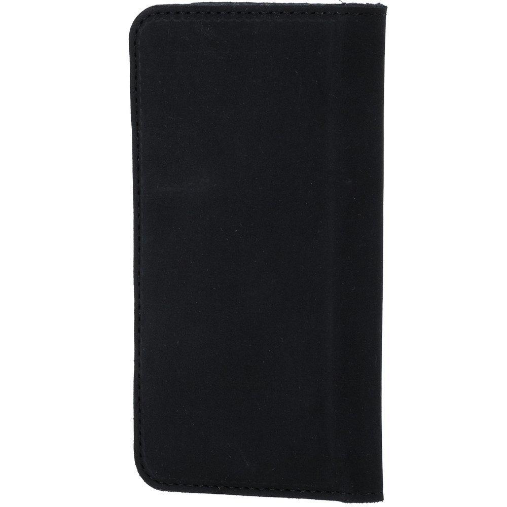 Etui pionowe na karty, dokumenty oraz wizytówki - Nubuk Czarny