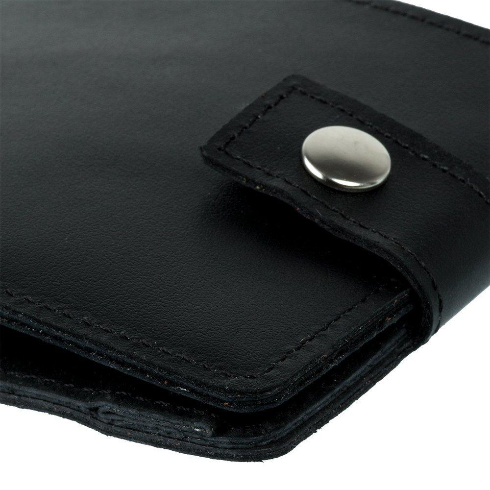 Klasyczny portfel z miejscem na karty - Costa Czarny
