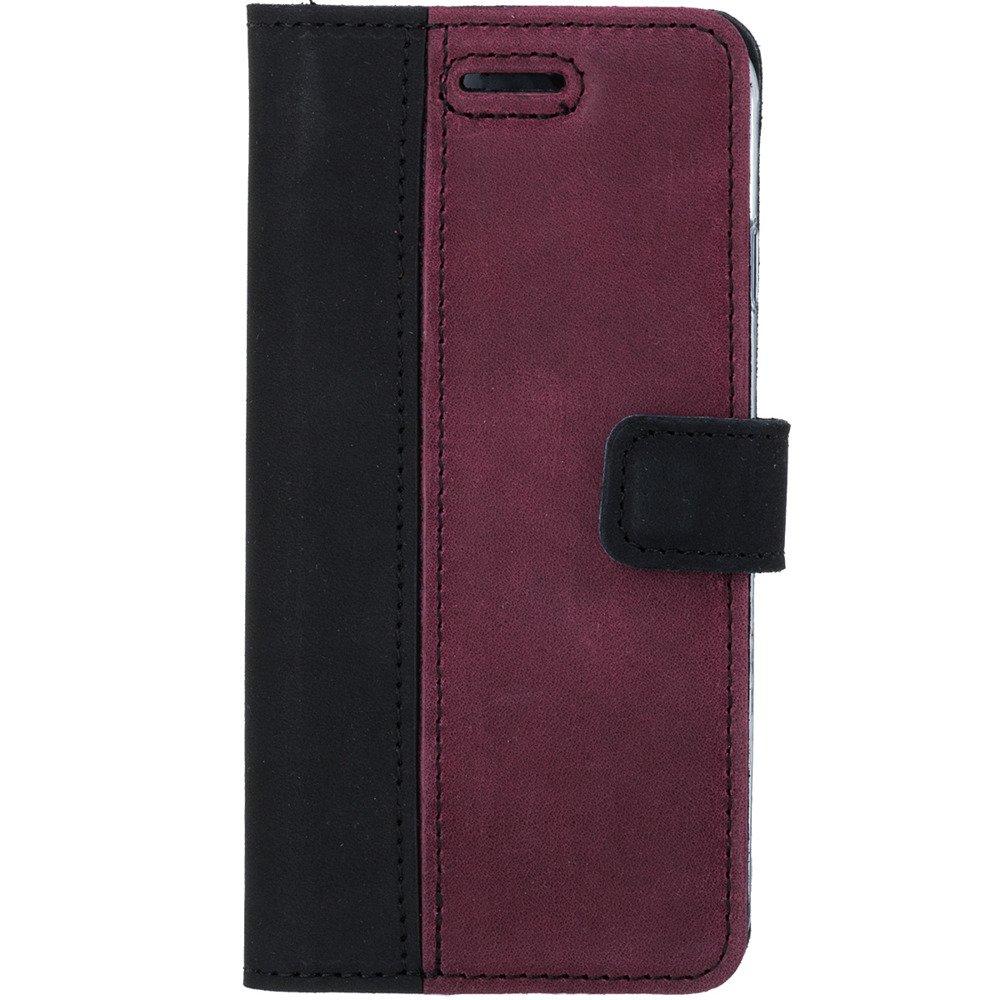 Wallet case - Nubuk Czarny i Burgund