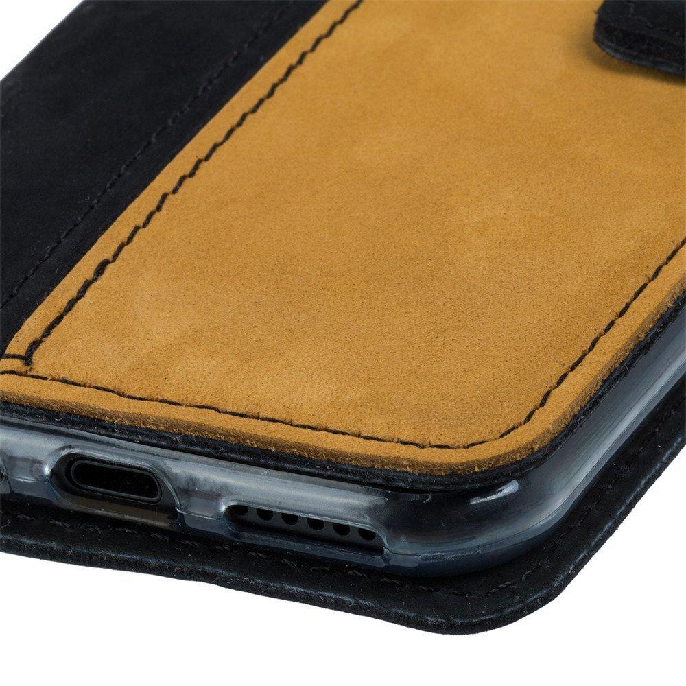 Wallet case - Nubuk Czarny i Camel