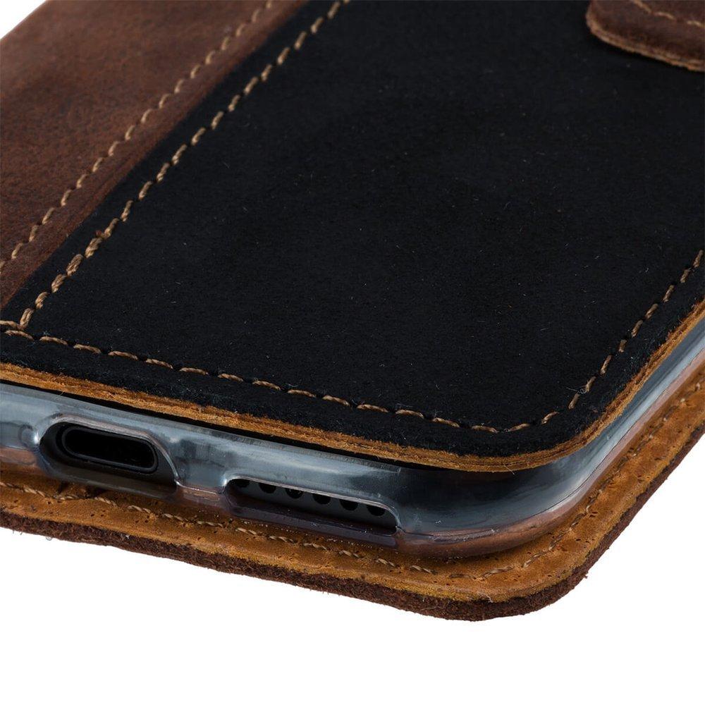 Wallet case - Nubuk Orzechowy i Czarny