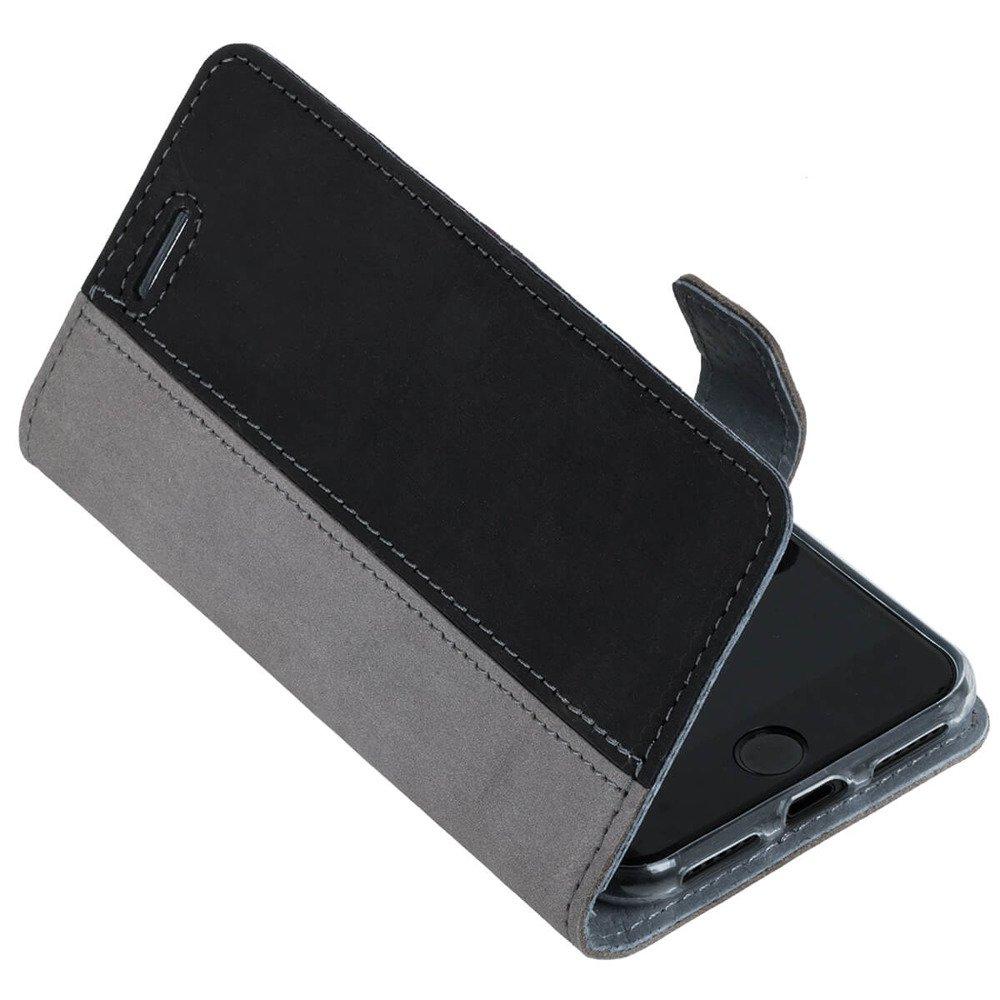 Wallet case - Nubuk Szary i Czarny