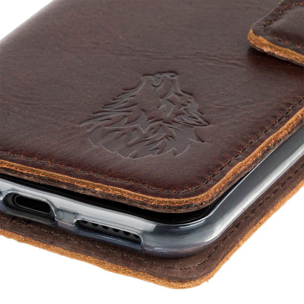 Wallet case - Western Ciemny Brązowy - Wilk