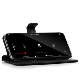 Wallet case - Nubuk Czarny i Czerwony